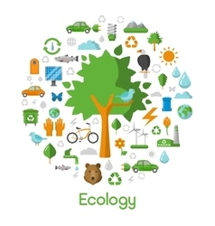 Ecology Environment Green City Concept Icons vector image vector image