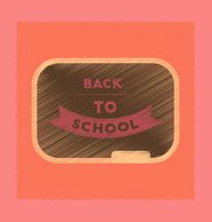 Flat shading style icon back to school board vector