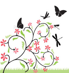 Flowers-and-butterflies vector