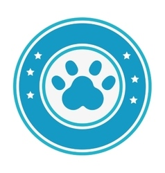 Foot print animal isolated icon vector