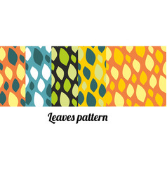 fun summer set of patterns with multicolored vector image vector image
