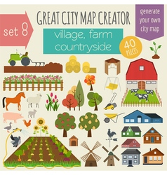 Great city map creator house constructor house vector