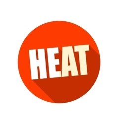 Heat flat icon with long shadow vector