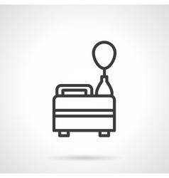Helium balloon black line design icon vector