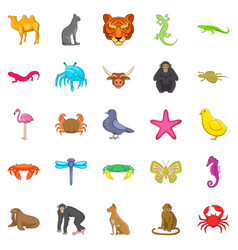 Hunting icons set cartoon style vector