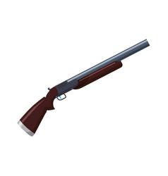 isolated shotgun weapon vector image vector image