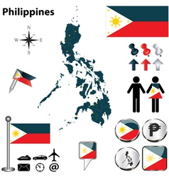 Map of Philippines vector image