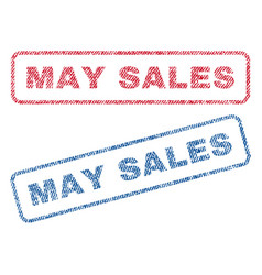 May sales textile stamps vector