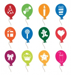 party balloons vector image