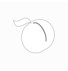 Peach icon isometric 3d style vector