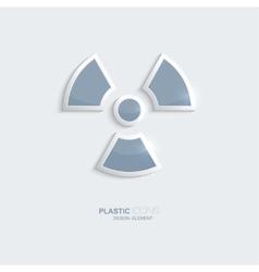 Plastic icon radiation symbol vector image vector image