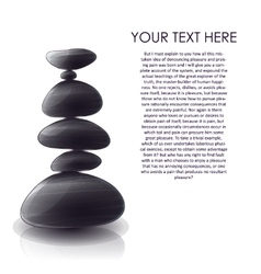 Pyramid of stones design vector
