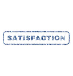 Satisfaction textile stamp vector