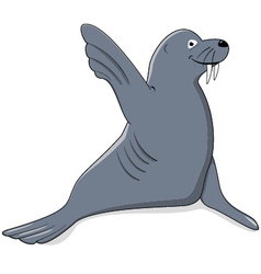 Seal say hello vector