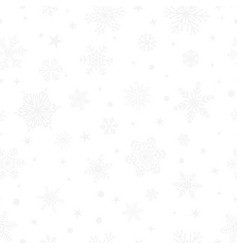 seamless pattern of snowflakes gray on white vector image