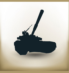 Simple battle tank vector