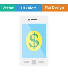 Smartphone with dollar sign icon vector image