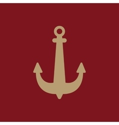 The anchor icon ocean symbol flat vector