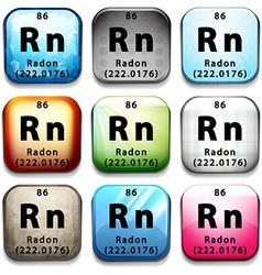 The radon element vector