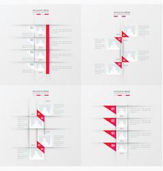 timeline design 4 item pink gradient color vector image vector image