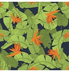 Tropical flower print vector
