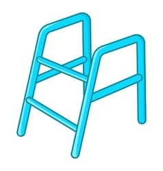 Walking frame icon cartoon style vector