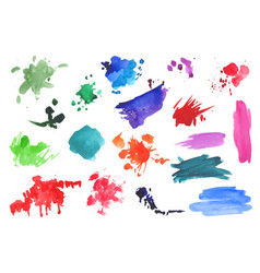 watercolor splatters collection vector image vector image