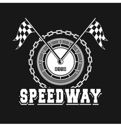 Speedway racing badge vector
