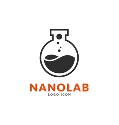 Nano lab logo template vector image