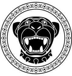 Panther of aztec stencil second variant vector