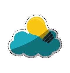 Bulb big idea vector image