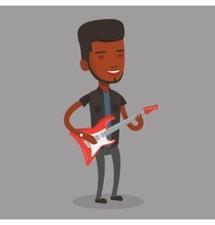 Man playing electric guitar vector