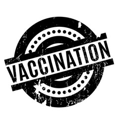 Vaccination rubber stamp vector