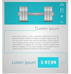 Flat minimalist template business design dumbbell vector