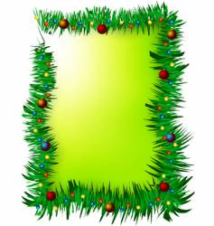 Christmas green frame vector