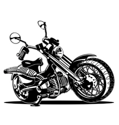 Cartoon Motorbike vector image