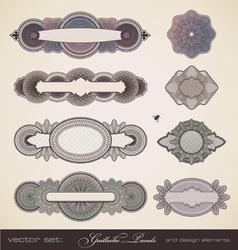 guilloche panels vector image