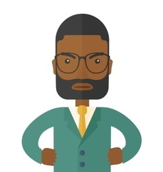 Angry black man vector