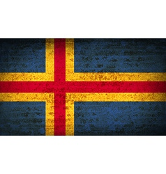 Flags aland with dirty paper texture vector