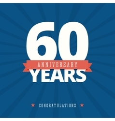 60 year anniversary card poster template vector