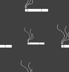 Smoking sign icon cigarette symbol seamless vector