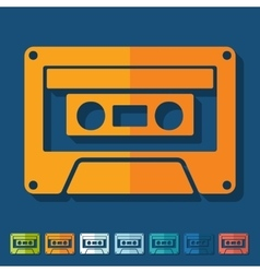 Flat design audiocassette vector