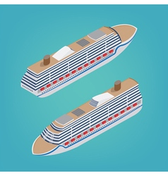 Isometric passenger ship tourism industry cruise vector