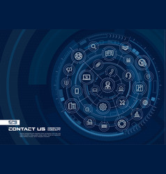 Abstract contact us call center background vector