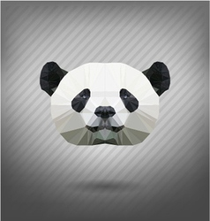 Abstract triangle polygonal panda vector