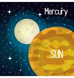 Astronomy sun system solar planets isolated vector