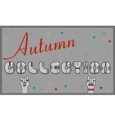 Autumn Collection Artistic font vector image vector image