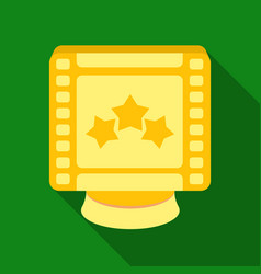 award in the form of a video tape for best actor vector image vector image