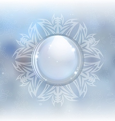 Beautiful snow globe vector