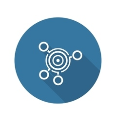 Business goals icon flat design vector